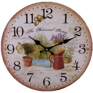 Garden 75711 - Large Rustic Retro Kitchen Wall Clock 34cm